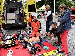 Světový den první pomoci na Kociánce v Ústí nad Orlicí.