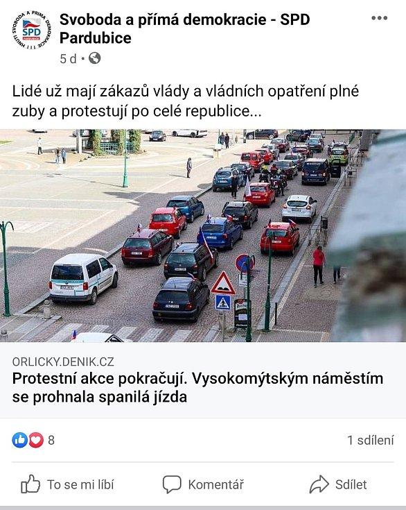 Zdroj: Facebookové stránky SPD