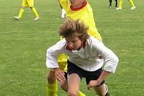 Mladí fotbalisté nastříleli soupeři z Jesenicka čtyři branky. Dva úspěšné zásahy zaznamenal A. Kopřiva.