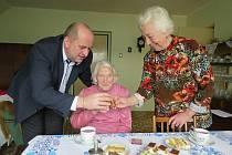 Nejstarší obyvatelka Letohradu Lidmila Junková z Orlice slavila narozeniny.