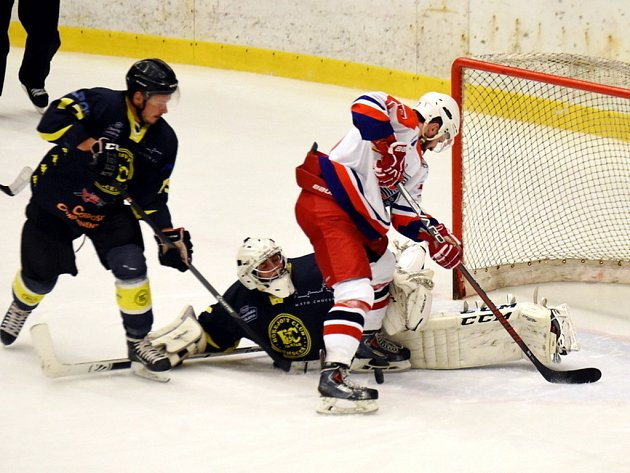 Krajská hokejová liga: BK Havlíčkův Brod B - HC Spartak Choceň.