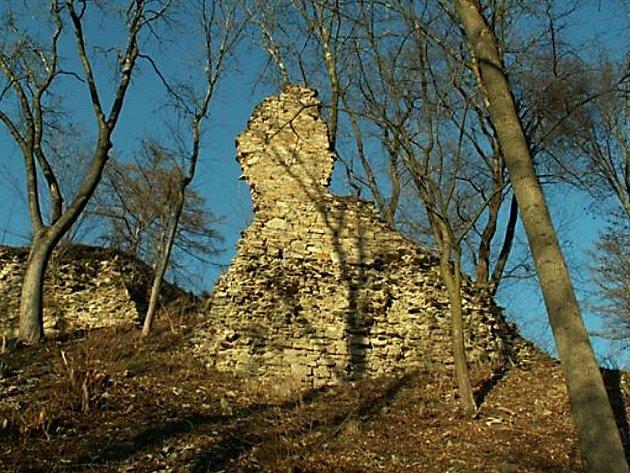 Zřícenina hradu v Brandýse nad Orlicí.