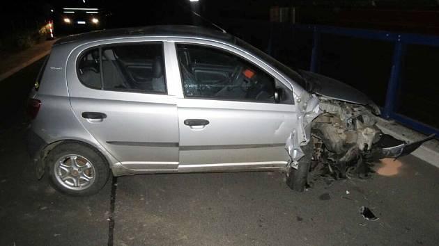 Dopravní nehoda v Králíkách.