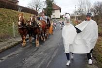 Poslední únorová sobota byla ve Voděradech ve znamení masopustu.
