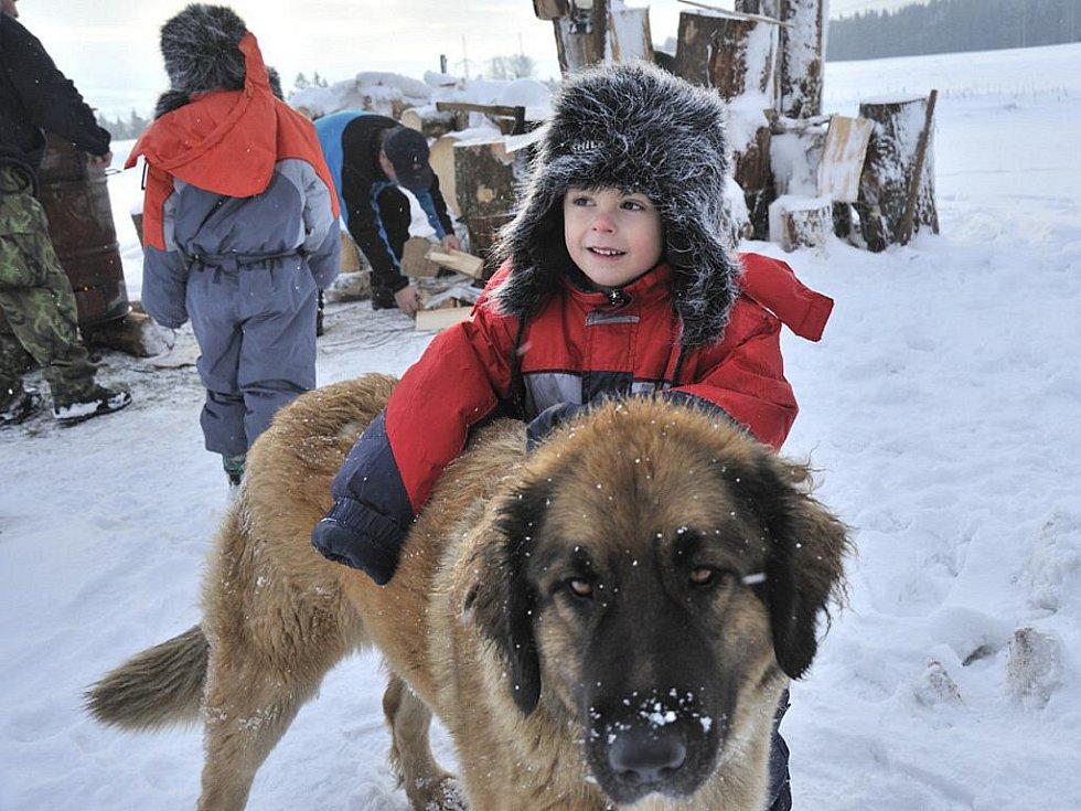 Zimní táboření na Kozlovském kopci.