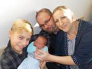 Matyáš David Říha je po Filipovi druhý syn Moniky a Jiřího z Ústí nad Orlicí. Při narození dne 29. 12. v 9.11 hodin vážil 3840 g.