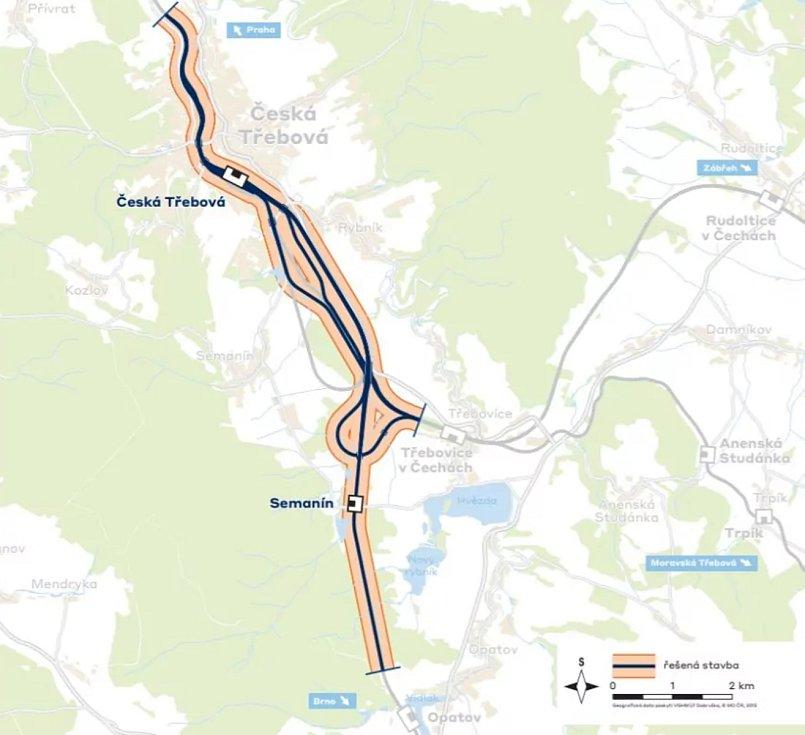 Vizualizace železničního uzlu Česká Třebová