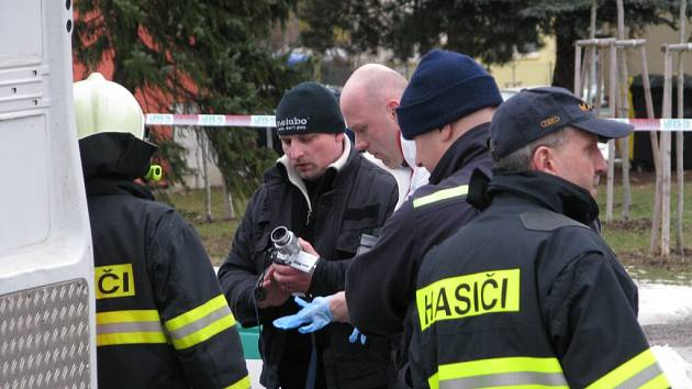 Policejní vyšetřování na sídlišti Štěpnice v Ústí nad Orlicí.