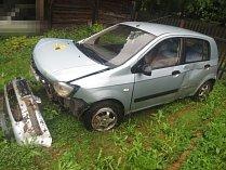 Havárie osobního automobilu u obce Třebovice.