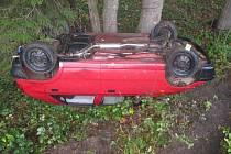 V Líšnici havarovala Škoda Felicia.