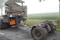 Dopravní nehoda u obce Mostek.