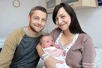 Ema Flídrová se narodila 26. září ve 20.41 hodin. Radují se z ní manželé Katka a Martin z České Třebové. Holčička vážila 3,38 kg.