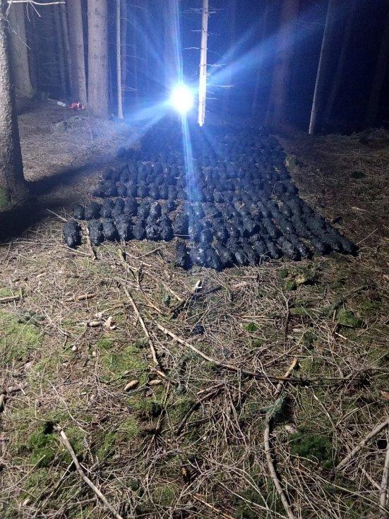 Nález velkého množství dělostřeleckých min