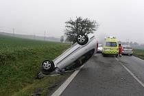 Dopravní nehoda na I/43 mezi obcemi Třebovice a Opatov.