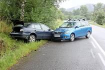 Dopravní nehody mezi Letohradem a Ústím nad Orlicí.