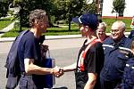 Profesionální hasiči v Lanškrouně se loučili s velitelem Jiřím Katzerem.
