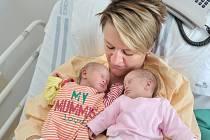 Ema a Lily Novákovi, tak se jmenují dvojčátka Mileny a Davida z Letohradu. Narodily se 10. 7., Ema s váhou 2300 g v 12.20 hodin, Lily s váhou 2290 g v 12.21 hodin.