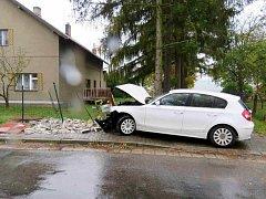 Z nehody v Běstovicích.