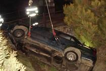 Z místa dopravní nehody ve Vraclavi.