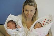 Michaela a Ondřej Novákovi jsou dvojčátka, která se narodila 26. července v 8.17 a 8.19 manželům Michaele a Drahoslavovi z Vysokého Mýta. Holčička vážila 2,97 kg, chlapec 3,02 kg. Těší se na ně sestra Karolína.