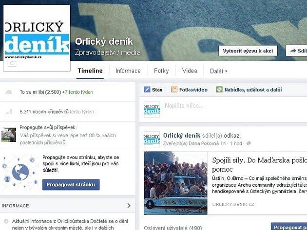 Facebook Orlického deníku.