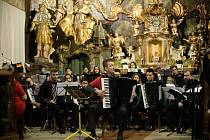 Česko-německý akordeonový orchestr v Žamberku.