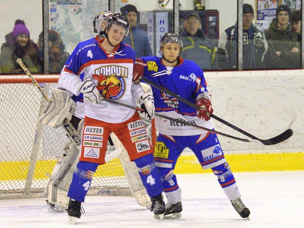 Krajská hokejová liga: HC Kohouti Česká Třebová - HC Slovan Moravská Třebová.