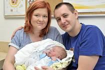 Martin Moravec bude doma ve Verměřovicích s rodiči Martinou a Jiřím. Chlapeček se narodil 16. května ve 4.17 hodin a vážil 3,23 kg.