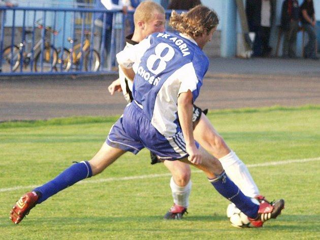 Rozhodnutí na konci zápasu. Až v posledních minutách vybojovali domácí v utkání Choceň – Dobrovice remízu.
