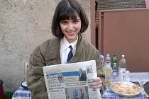 Polská herečka Michalina Olszanská s Orlickým deníkem.