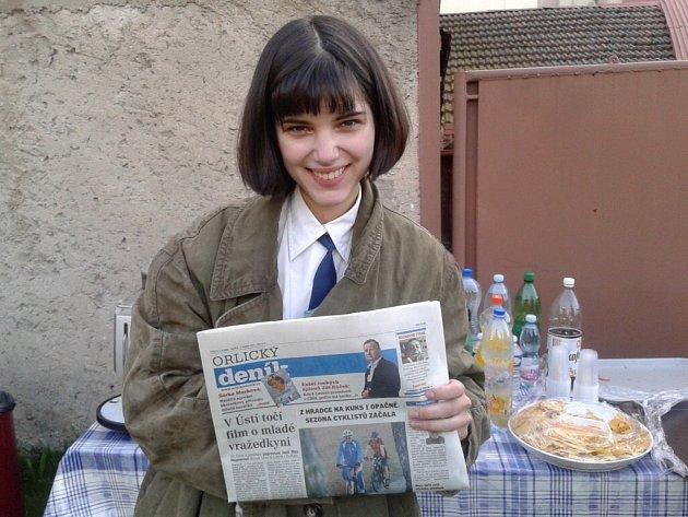 Polská herečka Michalina Olszanská sOrlickým deníkem.