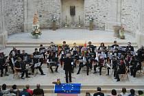Ze společného workshopu akordeonistů čtyř zemí v Žamberku.