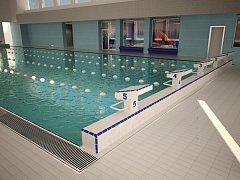 Vizualizace rekonstrukce krytého plaveckého bazénu.