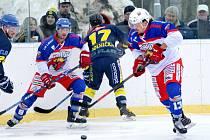 Winter Classic v Žamberku - krajská hokejová liga: HC Kohouti Česká Třebová - HC Spartak Choceň.
