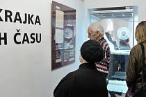Ze zahájení výstavy Paličkovaná krajka.
