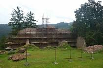 Státní hrad Litice je uzavřen kvůli opravě částečně zborcené stěny původního severního paláce.