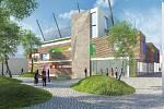 Vizualizace budoucího domu dětí a mládeže, který chce město postavit v areálu bývalé Perly.