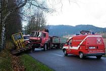 Nehoda v Dolní Dobrouči.