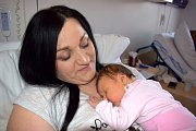 Valerie Nováková je prvním dítětem Veroniky a Tomáše z Horní Dobrouče. Holčička se narodila 13. 3. ve 22.29 hodin, kdy vážila 4,08 kg.