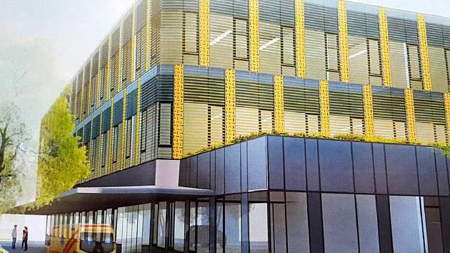 Vizualizace nového Centrálního příjmu Orlickoústecké nemocnice.