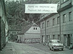 Ústecká ulice v Letohradě, srpen 1968