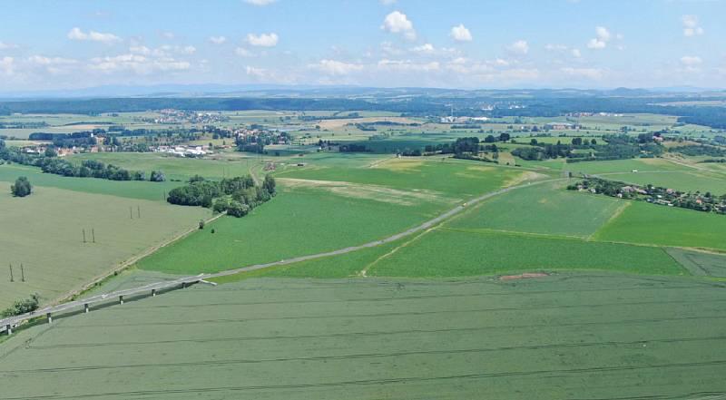 Pohled od Tyršovy plovárny na Slatinu, Zdroj: Vysoké Mýto