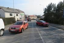 Střet dvou vozidel v Chocni