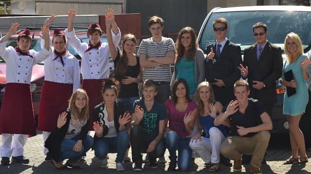 Studenti Obchodní akademie Choceň.