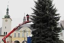 Vánoční strom v Ústí nad Orlicí.