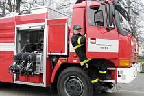Opravená Tatra 815 vysokomýtských hasičů.