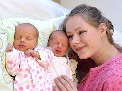 Růženka a Štěpánka Bednářovy jsou dvojčátka, která se 16. prosince ve 2.16 a 2.17 hodin narodila manželům Evě a Janovi ze Sloupnice, kde už mají sestry Barunku a Libušku. Na svět si přinesly 3,07 a 2,87 kg.