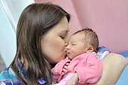 Dorota Karlíková bude doma s rodiči Adélou a Josefem v Litomyšli. Holčička se narodila 23. ledna v 22.56 a na svět si přinesla váhu 3,160 kg.