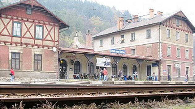 Vlakové nádraží v Ústí nad Orlicí.