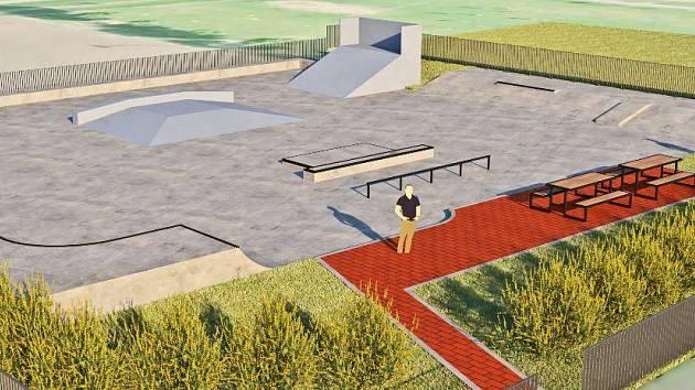 Budovaná podoba skateparku v Žamberku